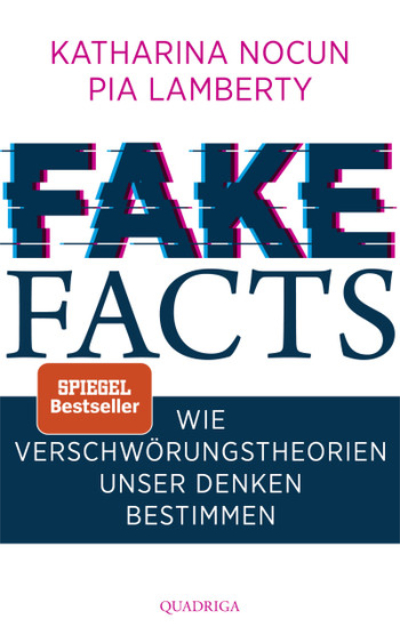 """Lesetipp: Cover des Buches """"Fake Facts"""" von Katharina Nocun, Pia Lamberty, erschienen im Quadriga Verlag, 2020. In Prinzip Apfelbaum – Magazin über das, was bleibt. Ausgabe: Vertrauen"""
