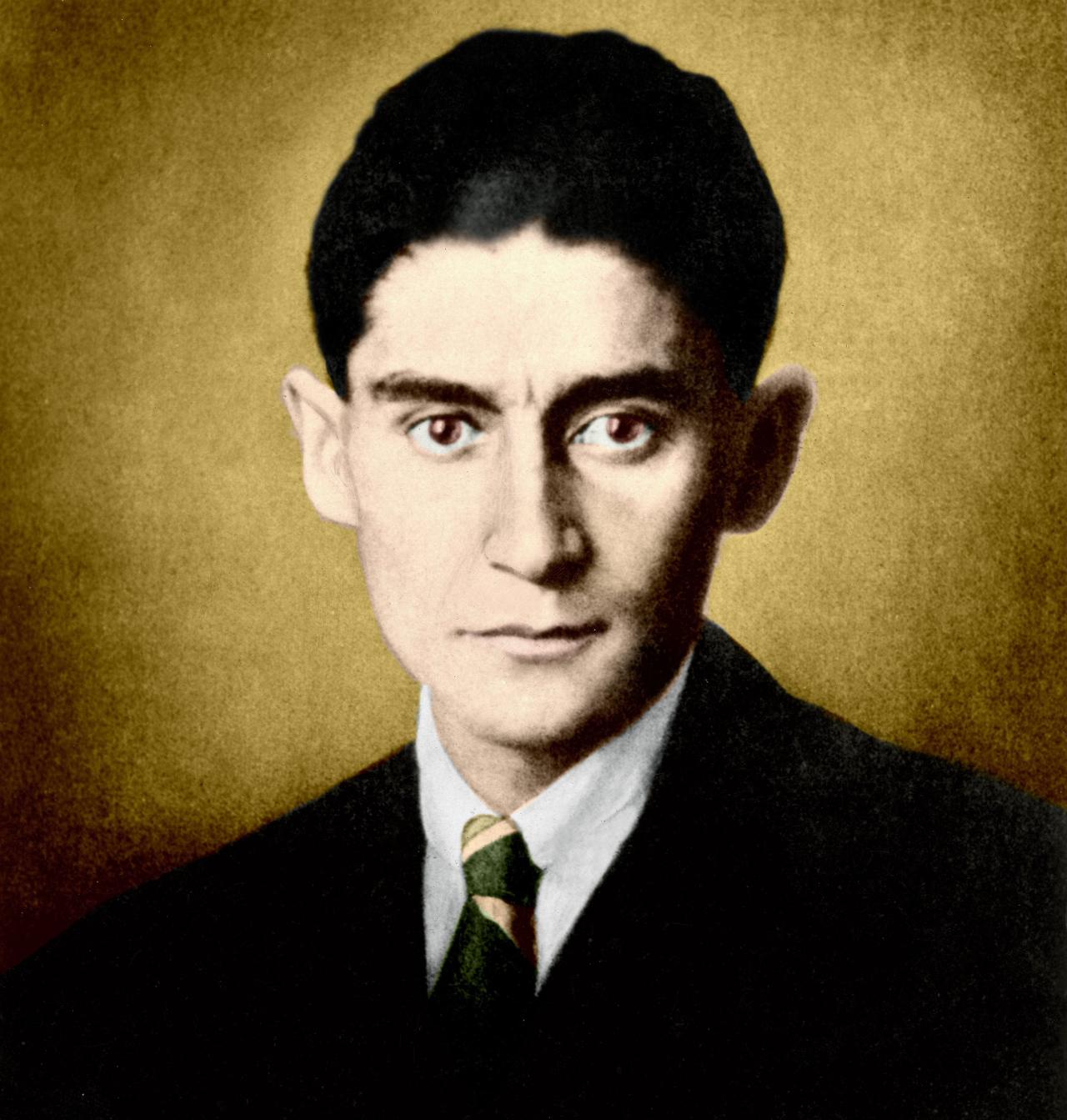 Zitat: Porträtfoto des Schriftstellers Franz Kafka, nachtraeglich koloriert, Oktober 1923. Prinzip Apfelbaum – Magazin über das, was bleibt. Ausgabe: Vertrauen. Foto: picture alliance / ullstein bild | ullstein bild