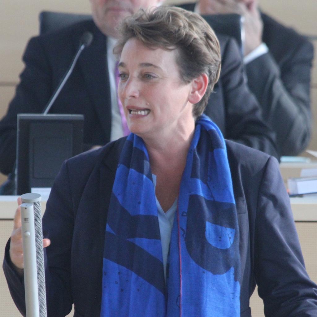 Anke Erdmann am Rednerpult im Kieler Landtag.